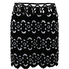 Anna Sui Blooming Floral Skirt (€235) ❤ liked on Polyvore featuring skirts, floral skirt, floral printed skirt, flower print skirt, anna sui skirt and short skirts