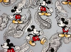 Mickey mouse fabric