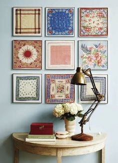 What a great way to use hankiesWhimsical Perspective: Collections - A Whimsical Link-Up Event