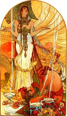 I have a major love affair with art nouveau and Alphonse Mucha!
