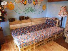 Puede convertir sus paletas Salón en una cama doble en la noche?  Salones y jardín Conjuntos de paletas Sofás