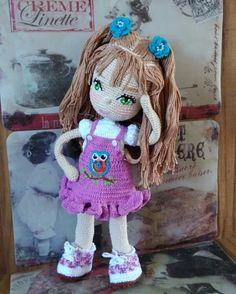 Crochet Doll Pattern, Crochet Dolls, Crochet Patterns, Homemade Toys, Doll Tutorial, New Dolls, Stuffed Toys Patterns, Amigurumi Doll, Beautiful Crochet