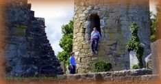 Find vissitor information and photos of the Irish heritage village of Aghagower in County Mayo, Ireland. County Mayo, Round Tower, Irish People, Irish Culture, Medieval Times, Stairway To Heaven, Grey Hair, Pilgrimage, Stairways