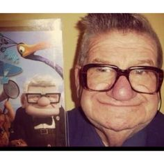 carl fredricksen up real life people look like cartoons pics Cartoon Characters Are Always A Delight To Watch. But What Will Happen If Well See Them In Real Life As Real People. Carl Fredricksen, Johnny Bravo, Disney Up, Disney Love, Disney Pixar, Disney Magic, Old Man From Up, I Smile, Make Me Smile