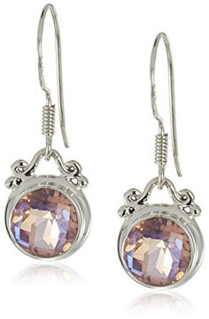 Sterling Silver and Rainbow Blush Quartz Earrings * Details can be found by clicking on the image.