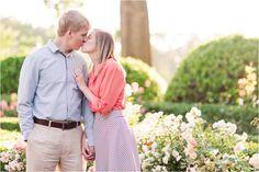 Whitney + Jake Engaged | Furman University Garden Engagement Session