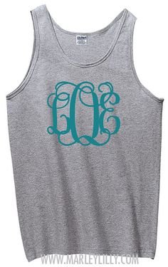 Monogrammed Boyfriend Tank | Preppy and Personalized | Marley Lilly