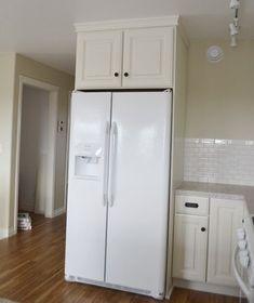Refrigerator cabinet - 36 x 15 x 24 Above Fridge Wall Kitchen Cabinet Momplex Vanilla Kitchen – Refrigerator cabinet Kitchen Wall Cabinets, Ikea Kitchen, Kitchen Backsplash, Grey Cabinets, Kitchen Shelves, Kitchen Redo, Refrigerator Cabinet, Built In Refrigerator, Furniture Plans