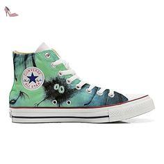 Converse Customized Chaussures Personnalisé et imprimés UNISEX (produit  handmade) chauve-souris - size