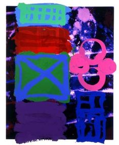 albert irvin artist | British Abstract Expressionist painter, Albert Irvin, is known for his ...