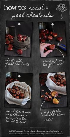 In season in November - chestnuts. How to guide for perfect chestnuts. Yum yum! #food