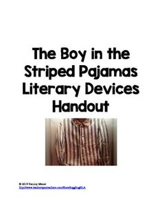 What scenes could I use for my reflective essay on boy in the striped pj's?