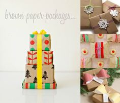 Wrapping idea...so cute! Omiyage Blogs: Brown Paper Packages...