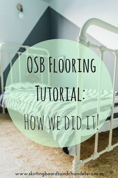 Read how we installed and sealed an OSB floor to great effect. Easy and cost effective and gives an edgy industrial look Cost Of Laminate Flooring, Diy Flooring, Flooring Options, Painted Osb, Osb Wood, Roof Sheathing, Dustpans And Brushes, Alternative Flooring, Skirting Boards