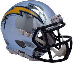 Riddell Los Angeles Chargers Chrome Alternate Speed Mini Football Helmet   FootballHelmet New Helmet 77cfc1bc4