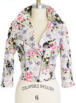 Badass Bouquet Cropped Moto Jacket at PLASTICLAND