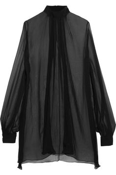 Alexander McQueen - Silk-crepon Blouse - Black