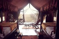 """luxury """"glamping"""" in Botswana at Jacks Camp Luxury Glamping, Campaign Furniture, African Safari, Africa Travel, Luxury Travel, Lodges, The Good Place, Places To Go, Camping"""