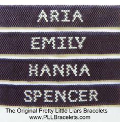 The Original Pretty Little Liars Bracelet by DreamWeaverDesigns on Etsy https://www.etsy.com/listing/111654482/the-original-pretty-little-liars