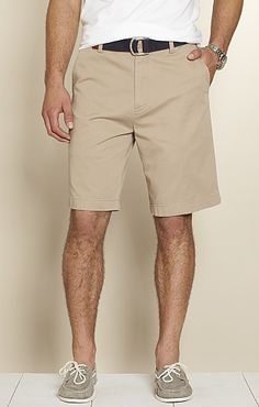 great classic. white and khaki with black or brown belt with boat shoes or converse.