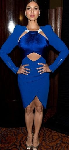 DEVIOUS MAIDS star Roselyn Sánchez wears our Spring 2014 Electric Blue