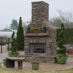 Elite Outdoor Custom Tall Classique Fireplace | WoodlandDirect.com: Outdoor Fireplaces: Fireplace Units - Gas