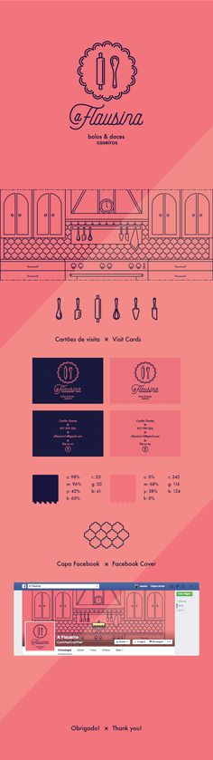 Identity for a brand of rustic homemade cakes & sweets - Comissioned work