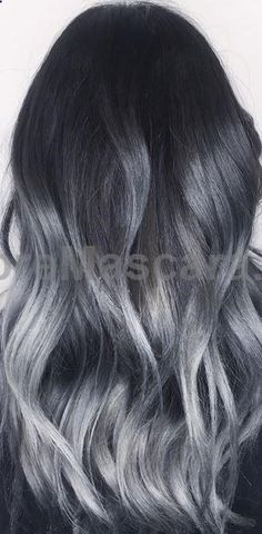 black to dark gray ombre