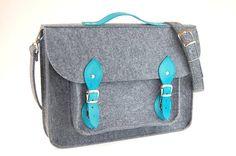 Laptop bag 13 in felt satchel macbook pro macbook by etoidesign, $64.00
