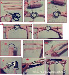 Awesome pastel goth heart garter diy tutorial ^^