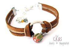 Haiku Bracelet cKas by Klarita Bijoux  -Camel-