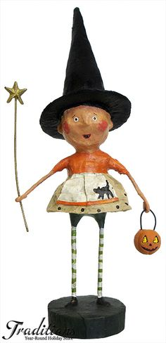 Shop Lori Mitchell hand made holiday decorations & Folk Art here at Traditions! Find Lori Mitchell figures for Halloween, Christmas, Easter, Valentine's & more! Halloween Rocks, Halloween Doll, Halloween Images, Holidays Halloween, Spooky Halloween, Halloween Crafts, Halloween Ideas, Holiday Store, Vintage Halloween Decorations