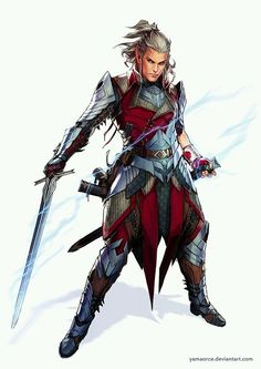 Female Elf Fighter RPG character inspiration