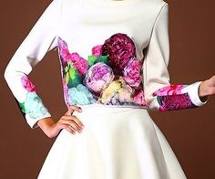 Flowers Long Sleeved Clothes + Skir