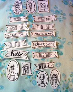 18 handmade stickers  awesome for stationary  by MamasLittleMarket, $10.00