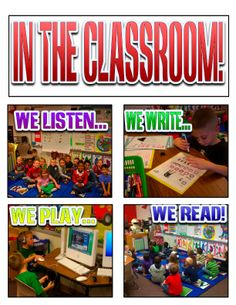 class room rules and routines.... great for students who need visual structures and schedules, and visual reminder of the rules