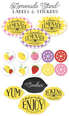 Free (and customizable) printable lemonade stand labels