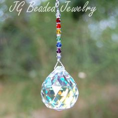 SALE Rainbow Crystal Suncatcher Prism Crystal by JGBeadedJewelry, $16.00