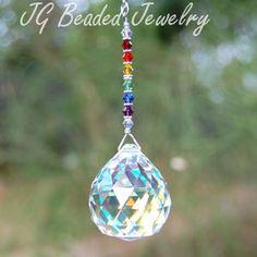 SALE Rainbow Crystal Suncatcher Prism Crystal by JGBeadedJewelry, $16.00