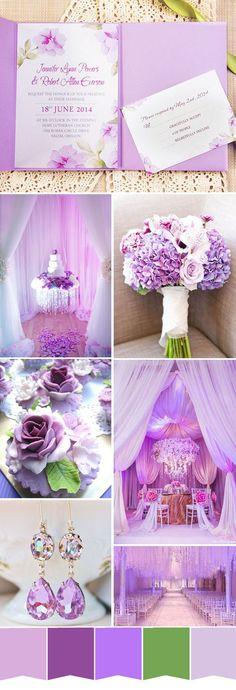 Light purple wonderland spring wedding ideas and light purple wedding invitations
