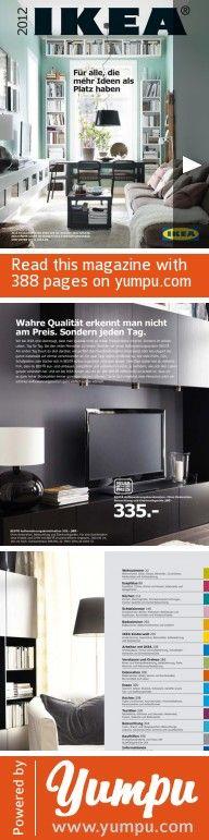 IKEA Hauptkatalog 2012 - Magazine with 388 pages: IKEA Hauptkatalog 2012 in DEUTSCH mit 388 Seiten