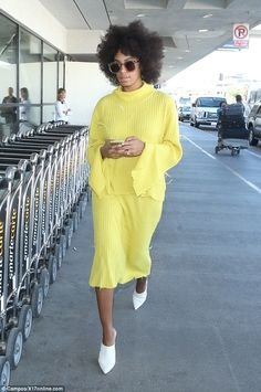 Solange Knowles at LAX.