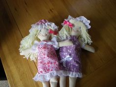 followed the rag doll pattern from quaint and quirky, easy to make, and a very happy great neice.