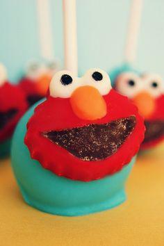 elmo cake pop
