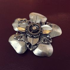 Steampunk Flower Hair Clip on Etsy, $5.00