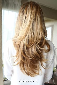 Two Tier Style for Long Layered Hair