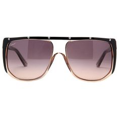 Pre-owned Gucci Gg 3705/s Hxur4 Clear Brown/black Unisex Sunglasses W/... ($359) ❤ liked on Polyvore featuring accessories, eyewear, sunglasses, brown, brown glasses, black sunglasses, gucci eyewear, unisex sunglasses and gucci