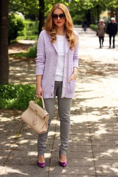 8788c01586cc Fashion Painted Dreams  Lavender cardigan