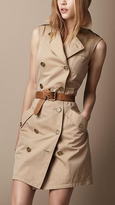Burberry sleeveless trench dress.  Forever known for its trench coats, why not carry the legacy forward by chopping out coat sleeves in the Spring & Summer season?  It's a stylish staple.  I would have trouble giving this dress a wear-rotation. I'd bust it out everyday if I could.