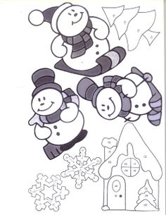 Large Snowman Template  Snowman  Paper Craft  Crafts